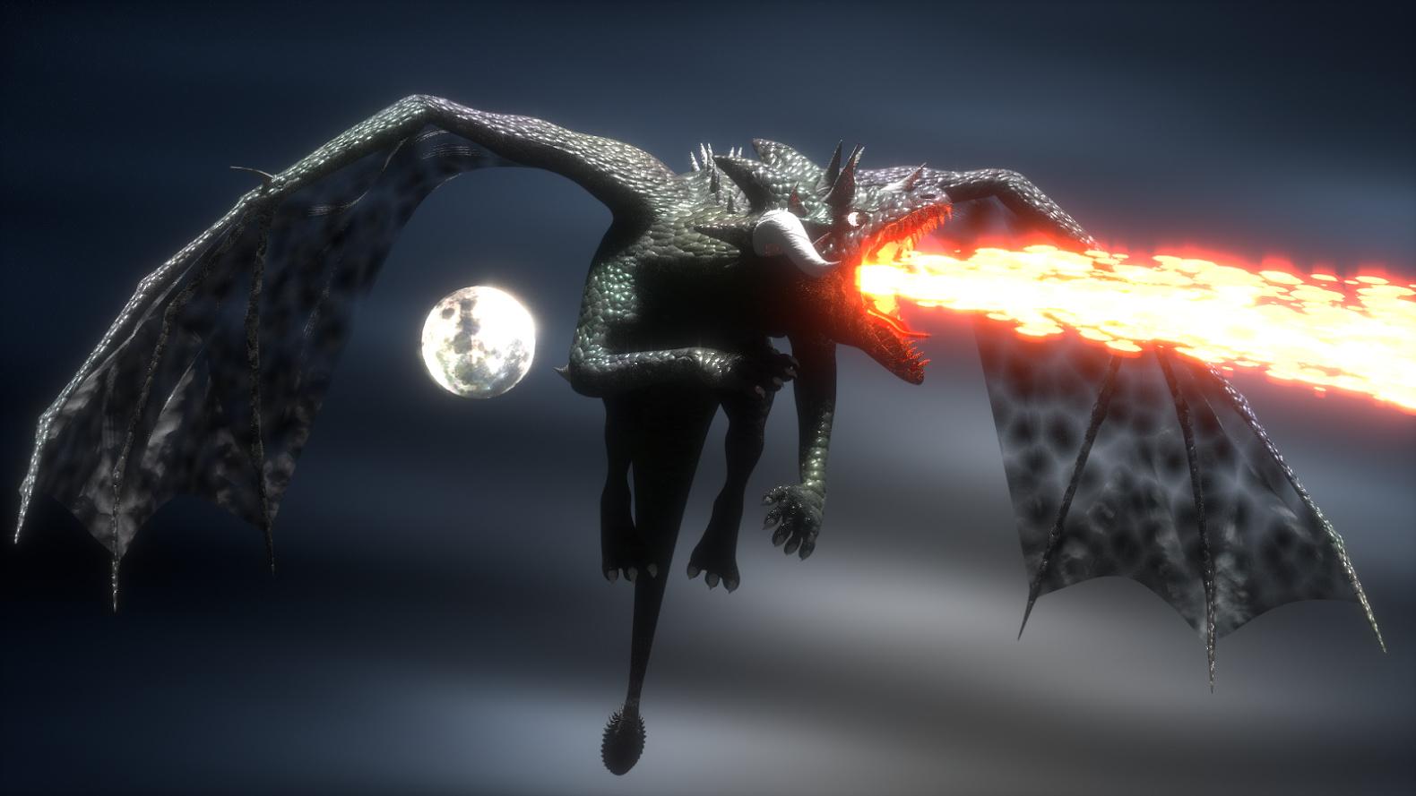 Ảnh rồng lửa 3D