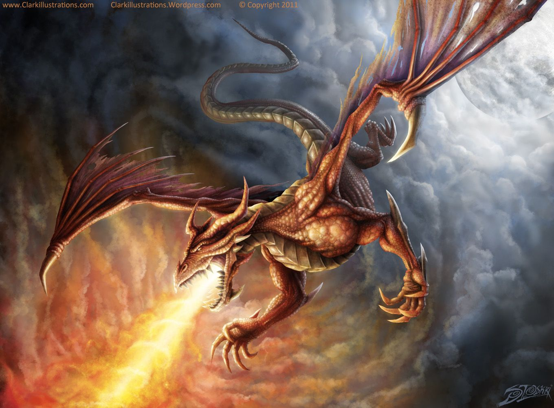 Ảnh rồng phun lửa 3D đẹp