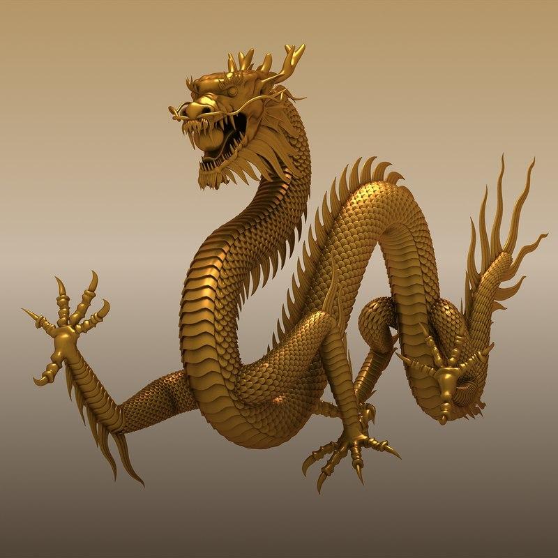 Ảnh rồng vàng 3D đẹp nhất