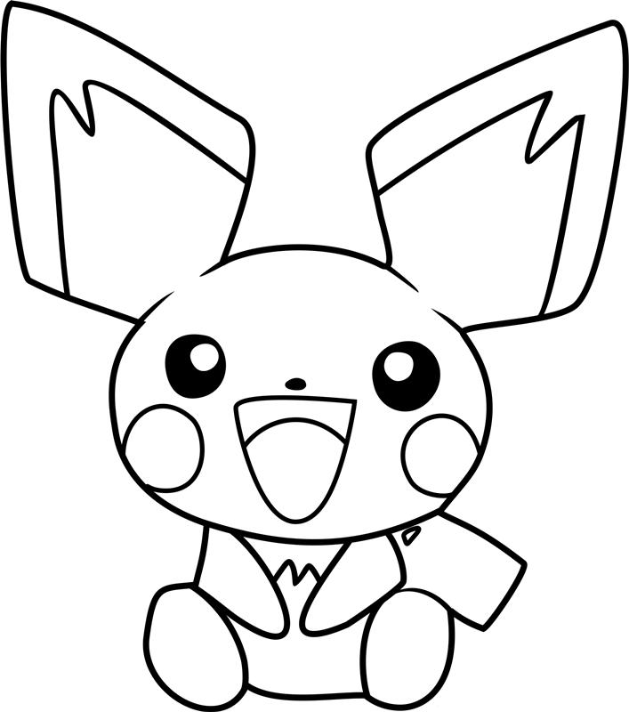 Ảnh tô màu pikachu dễ thương