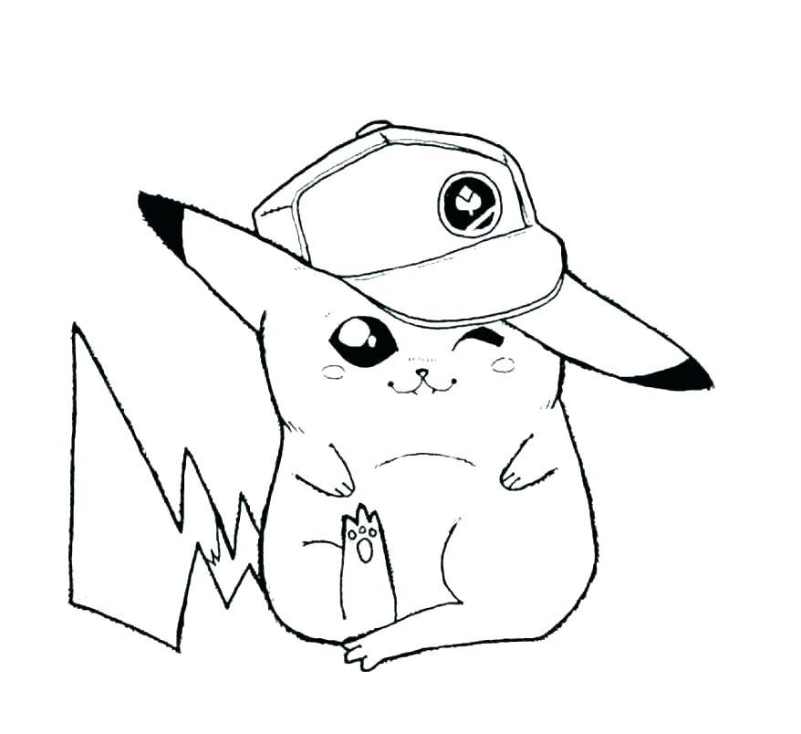 Bức tranh để tô màu pikachu