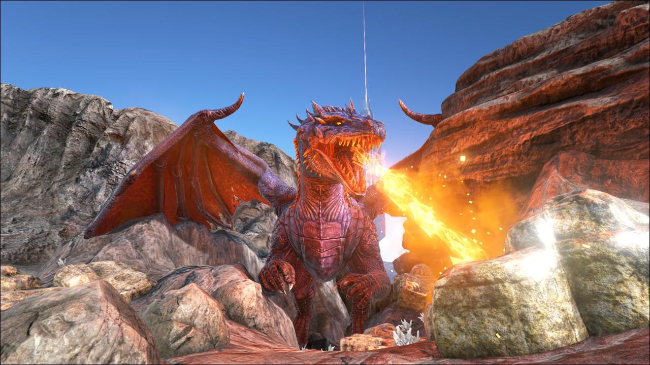 Hình ảnh rồng lửa 3D