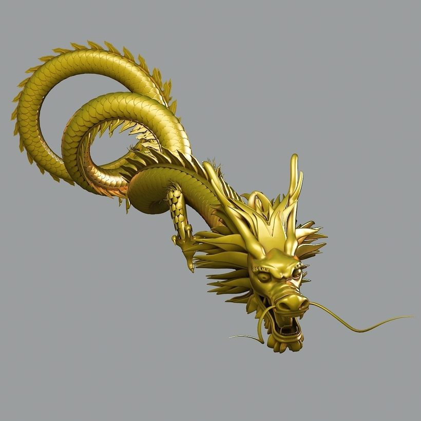 Hình ảnh rồng vàng 3D