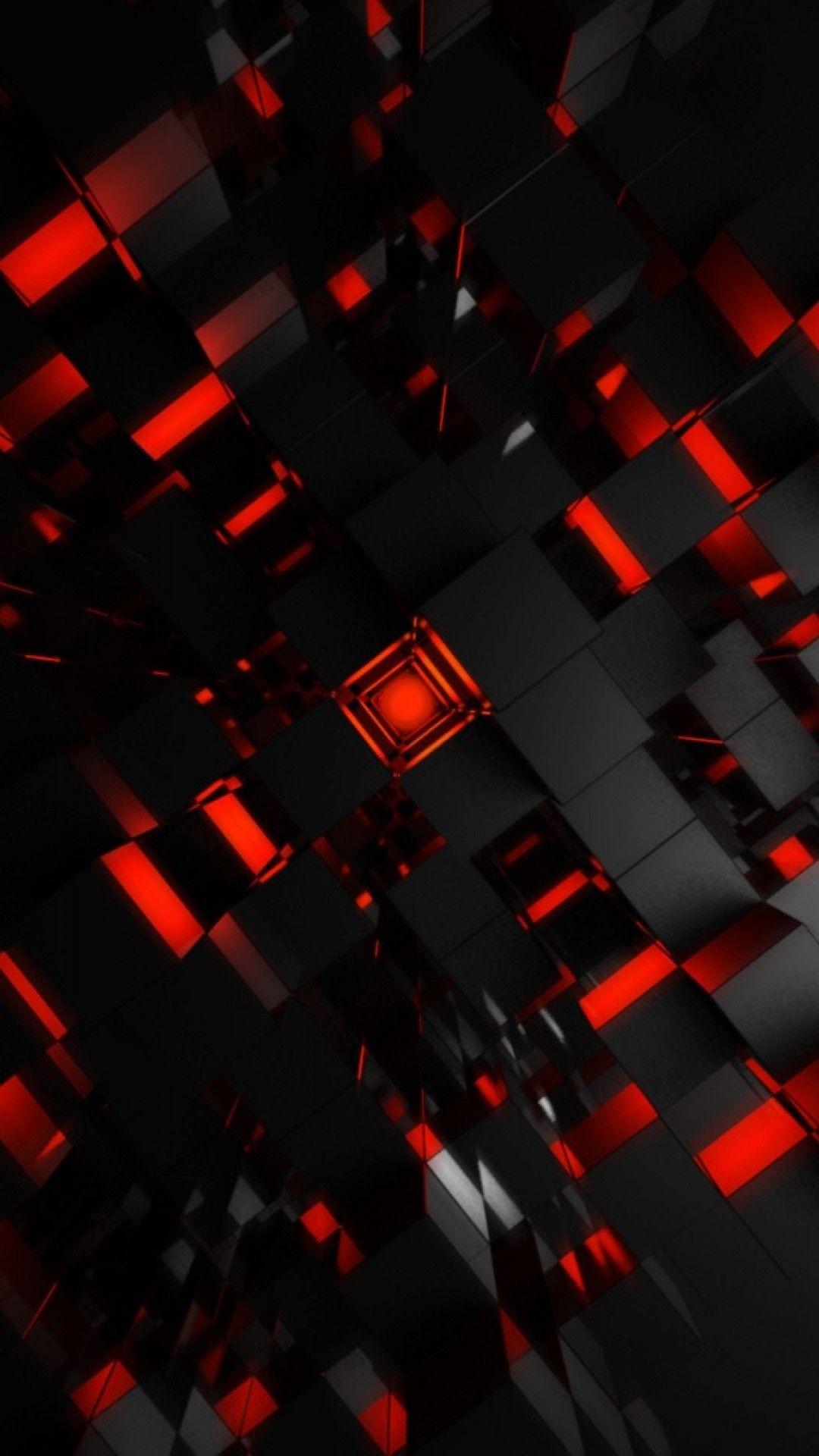 Hình nền đỏ và đen cho điện thoại
