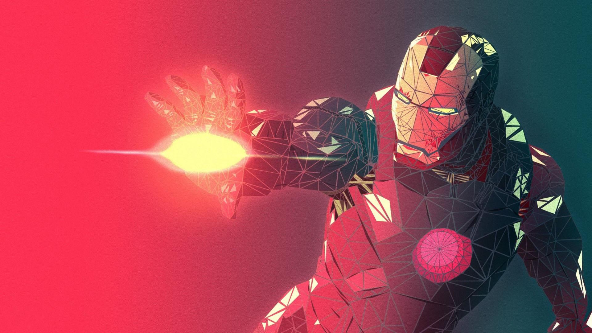 Hình nền iron man màu đỏ