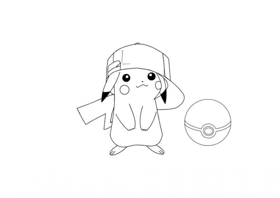 Hĩnh vẽ tô màu pikachu
