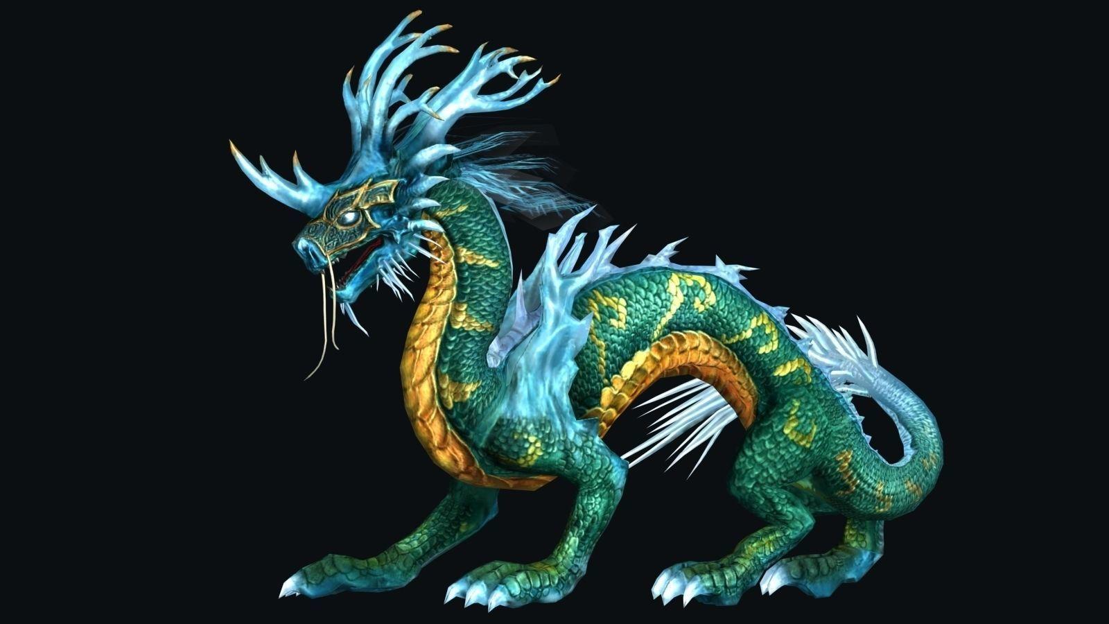 Model rồng 3D đẹp