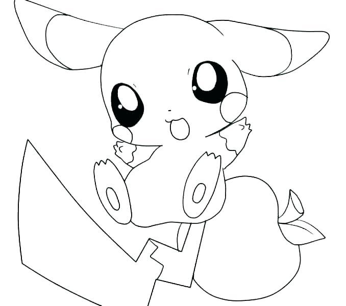 Tranh pikachu dễ thương tô màu