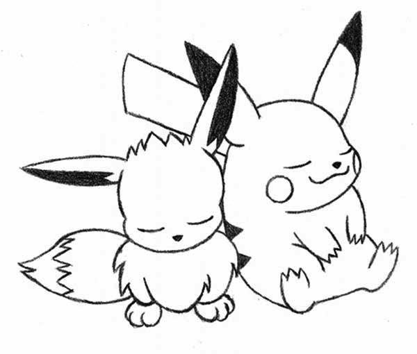 Tranh pikachu tô màu cho bé