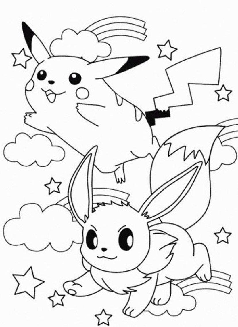 Tranh pikachu tô màu đẹp