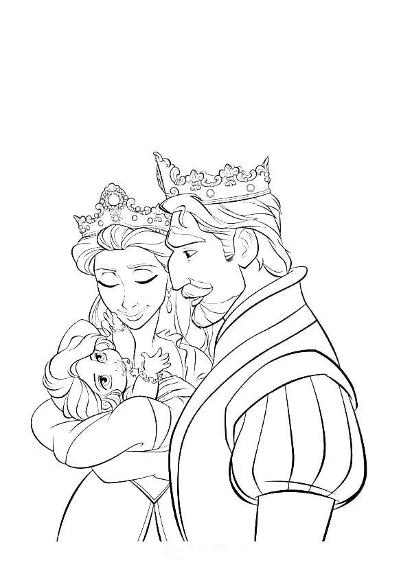 Tranh tô màu công chúa tóc mây khi còn bé