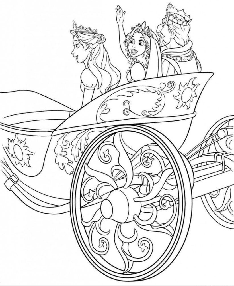 Tranh tô màu công chúa tóc mây và nhà vua