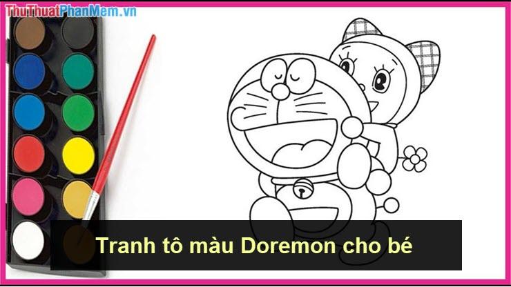Tranh tô màu Doremon cho bé