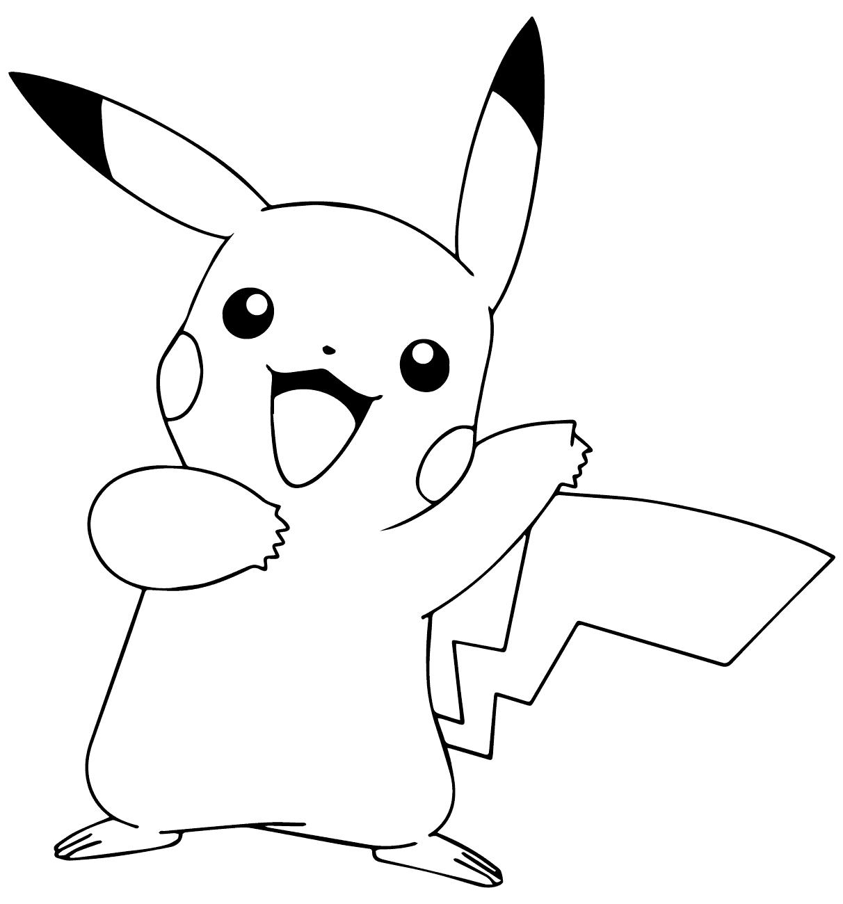 Tranh tô màu hình pikachu