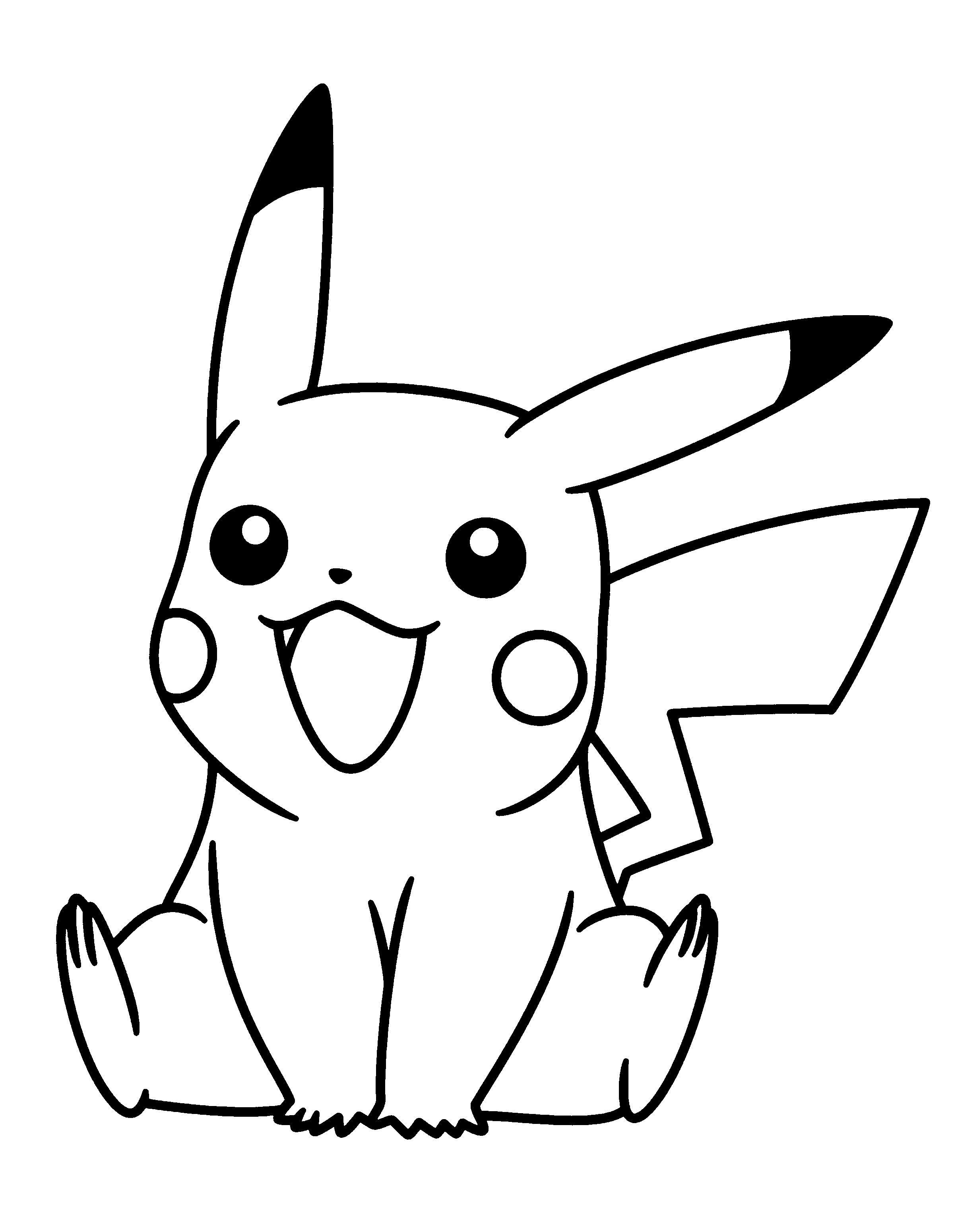 Tranh tô màu nhân vật pikachu
