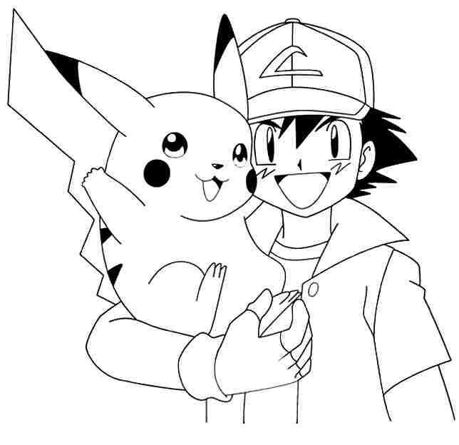 Tranh tô màu pikachu dành cho bé