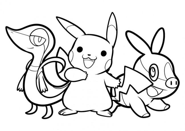 Tranh tô màu pikachu đen trắng đẹp