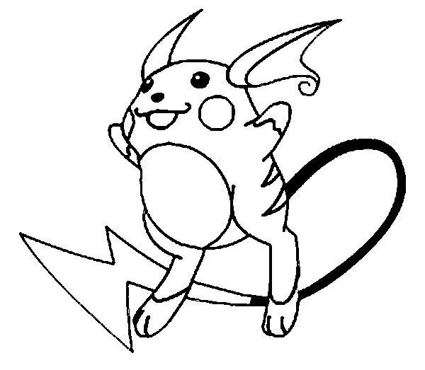 Tranh tô màu pikachu điện