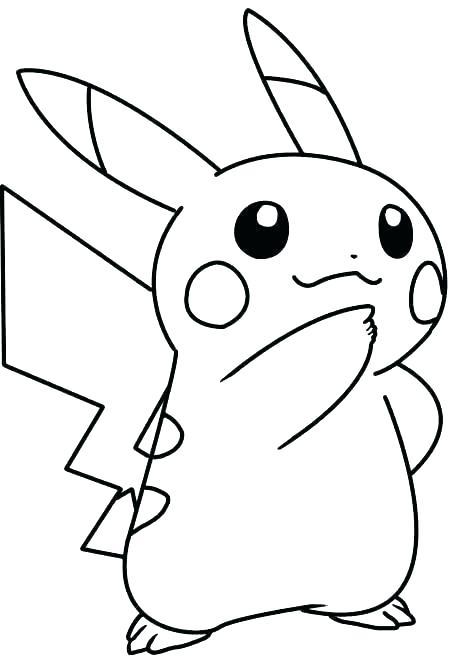Tranh tô màu pikachu đơn giản