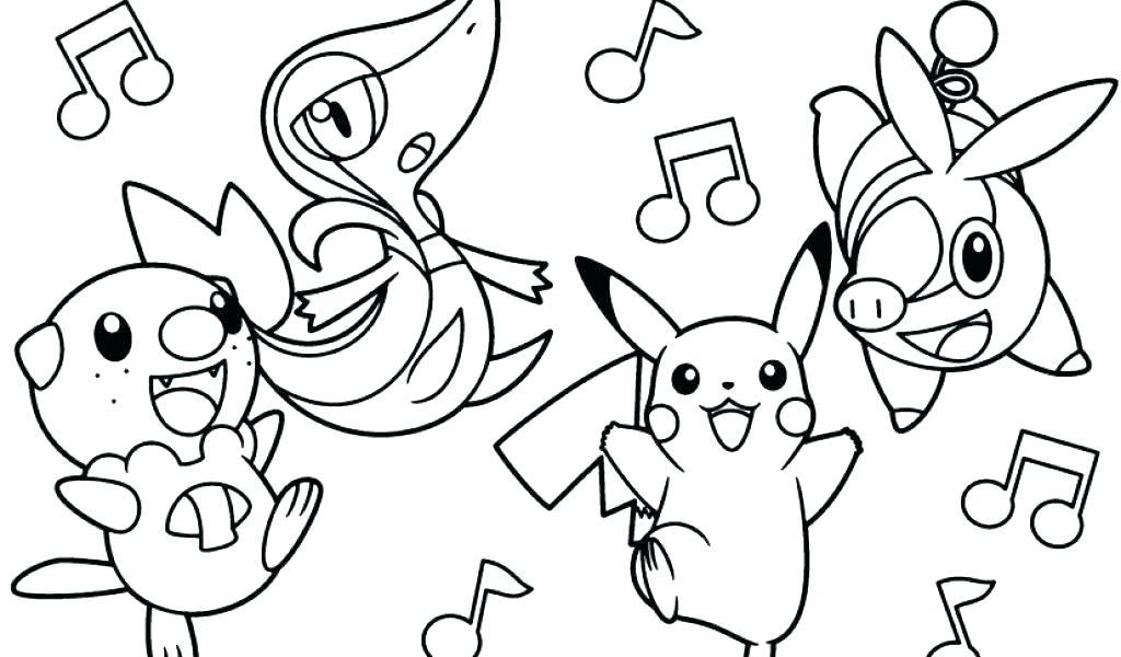 Tranh tô màu pikachu và các pokemon khác