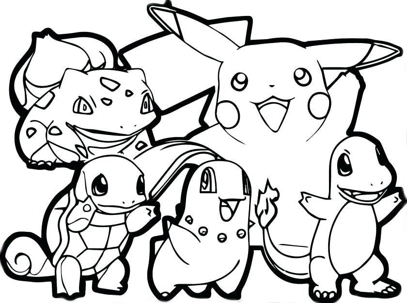 Tranh tô màu pikachu và các pokemon