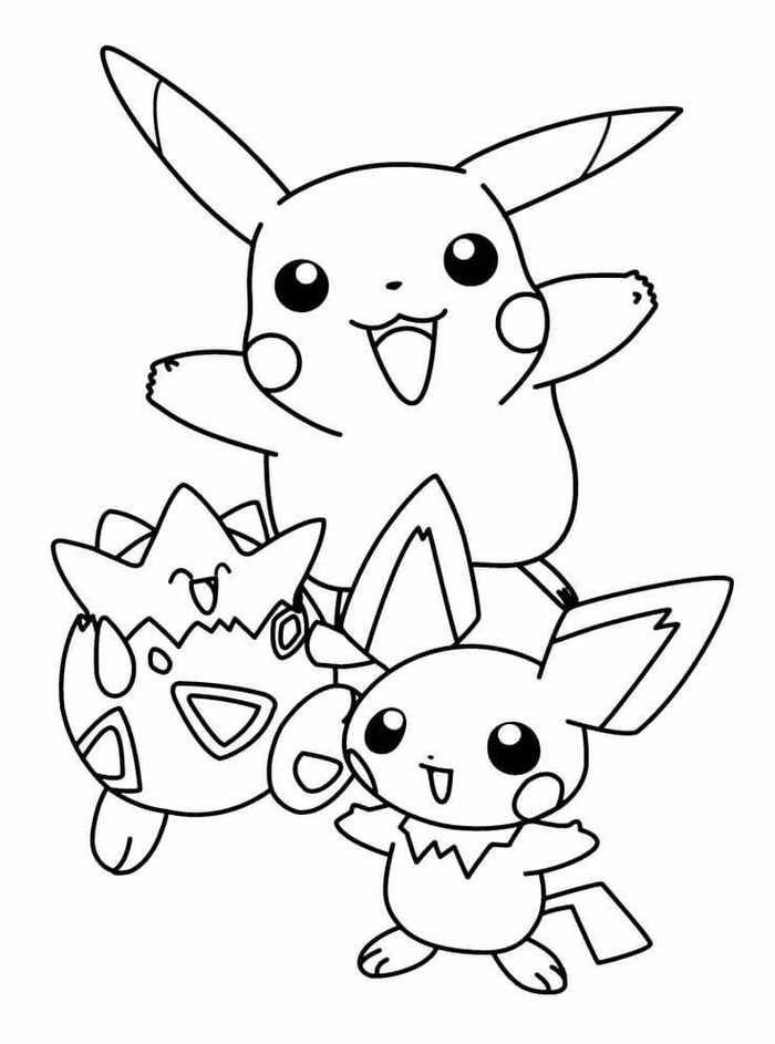 Tranh tô màu pikachu vui nhộn