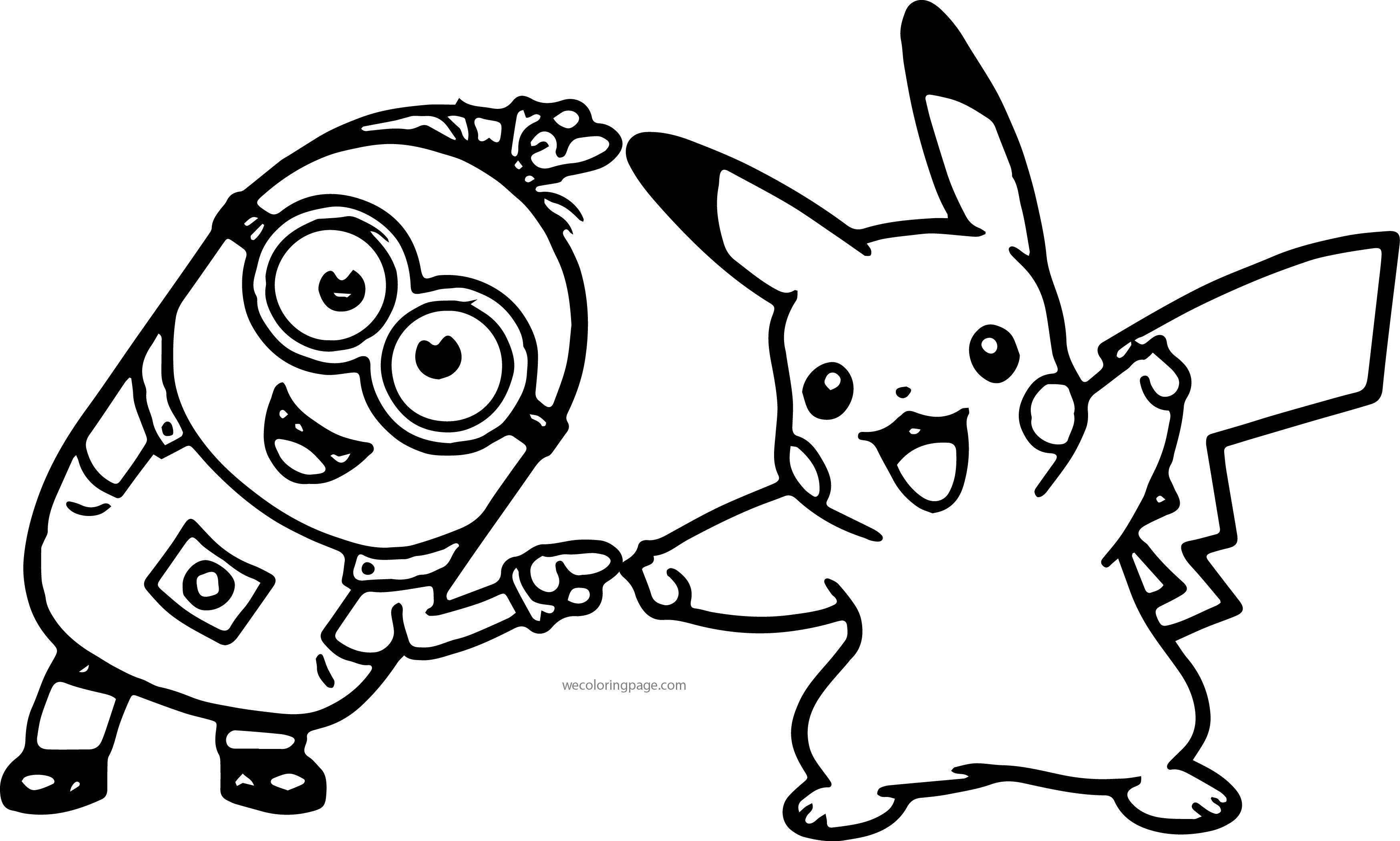 Tranh tô màu pikachu