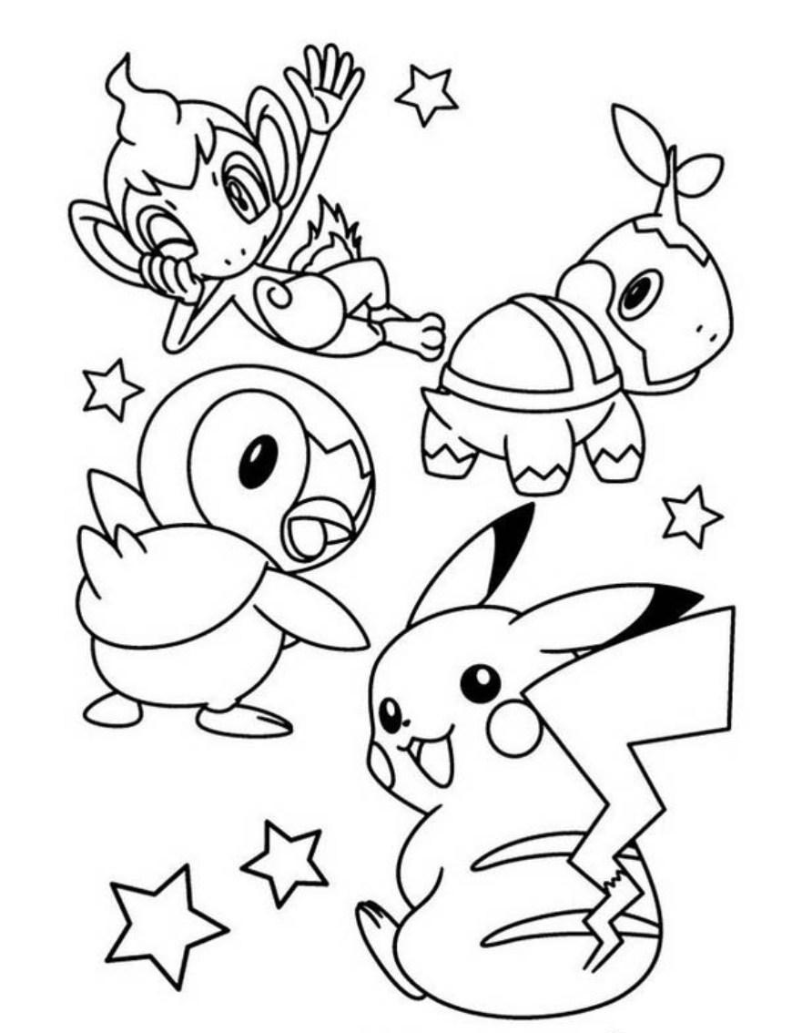 Tranh tô màu về pikachu