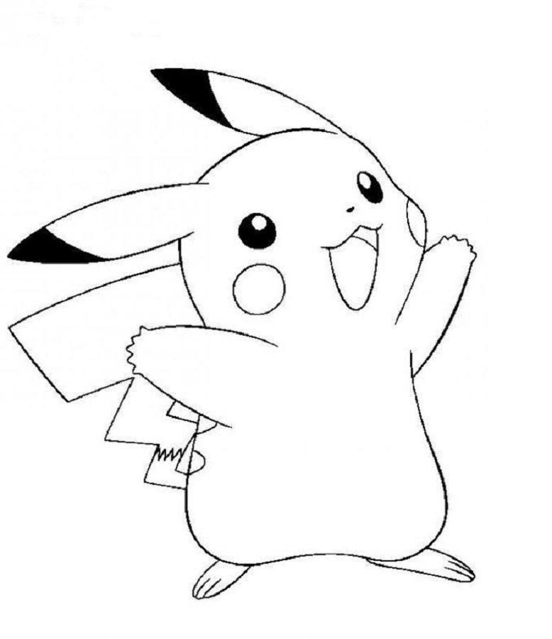 Tranh vẽ tô màu pikachu