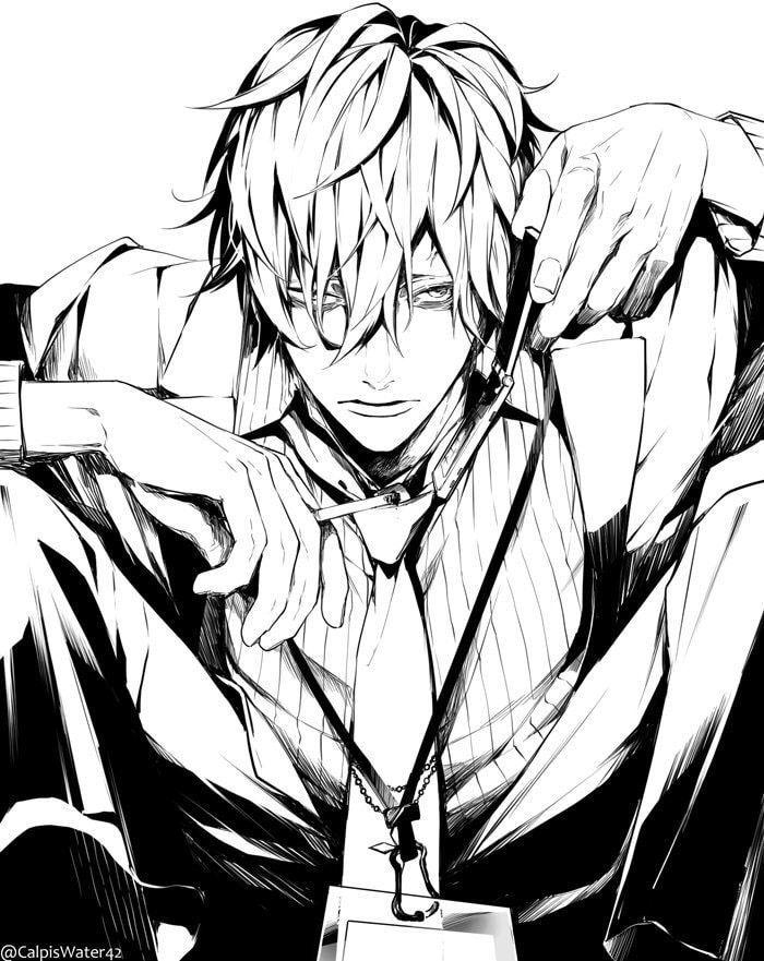 Ảnh Anime đen trắng đơn giản đẹp