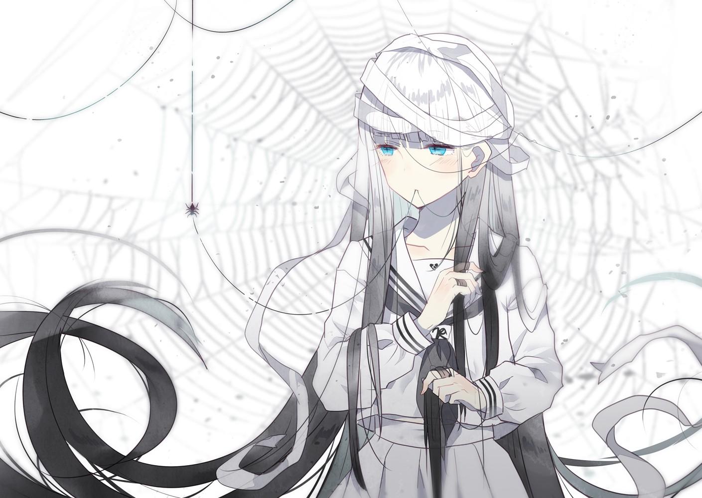Ảnh Anime trắng đen đơn giản đẹp nhất