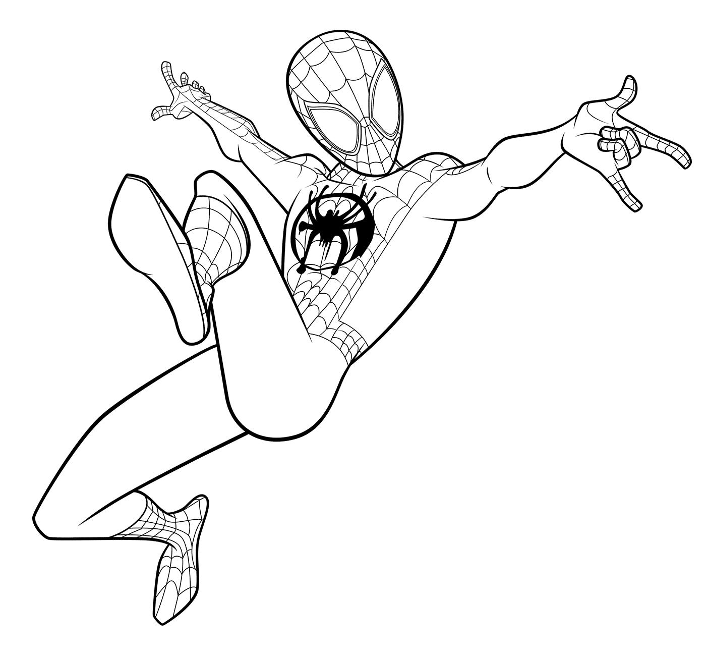 Ảnh tranh tô màu người nhện