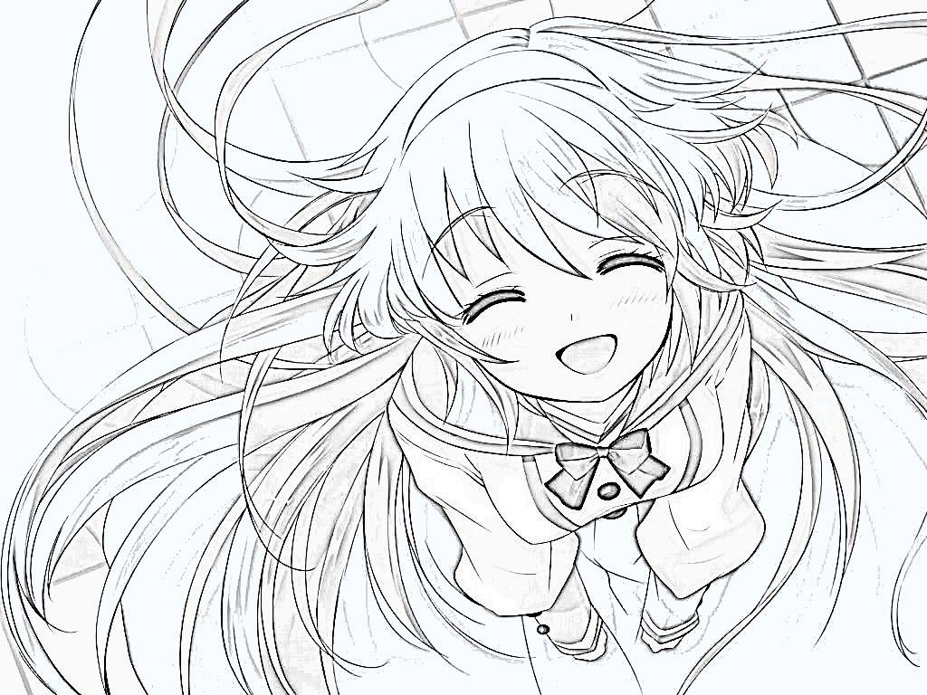 Hình ảnh Anime đen trắng đơn giản