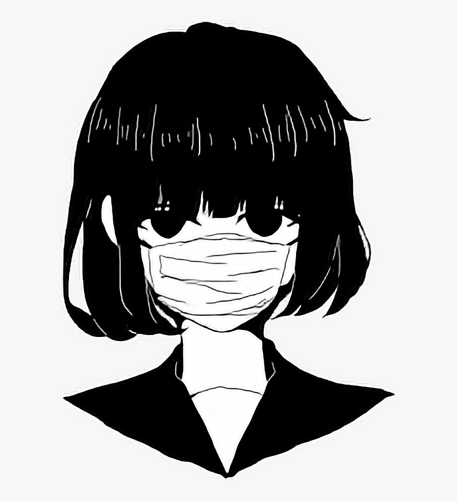 HÌnh ảnh Anime trắng đen đẹp