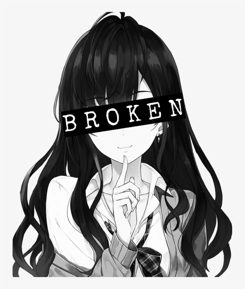 Hình ảnh Anime trắng đen đơn giản cực đẹp