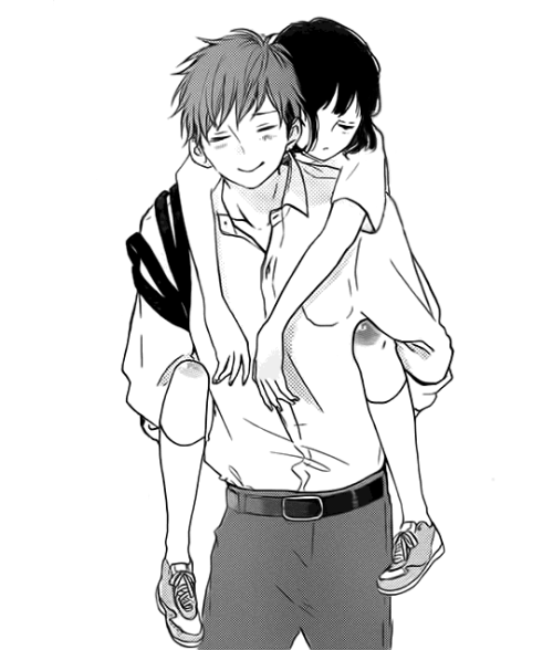 Hình Anime trắng đen dễ thương
