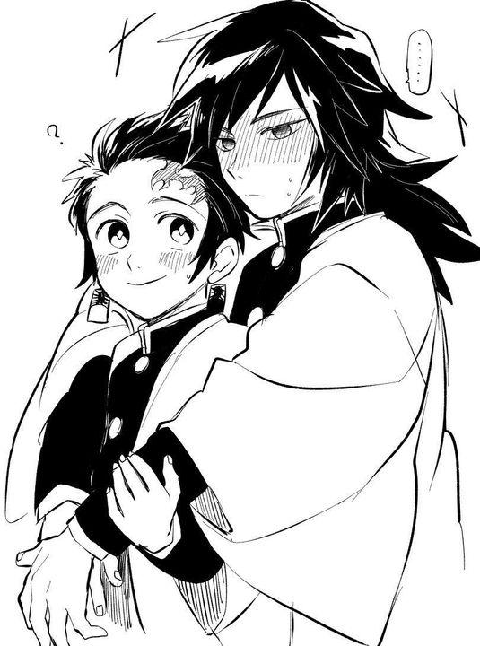 Hình Anime trắng đen đơn giản