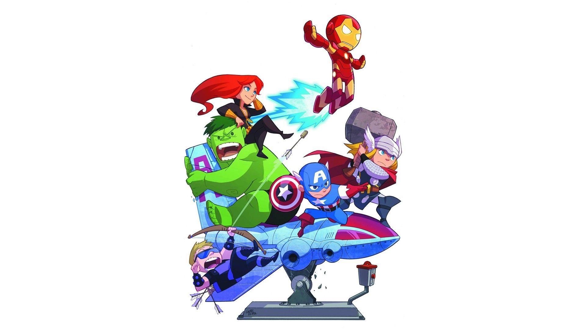 Hình nền avenger chibi