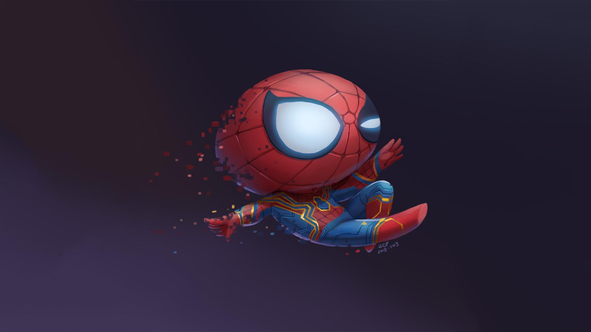 Hình nền chibi người nhện