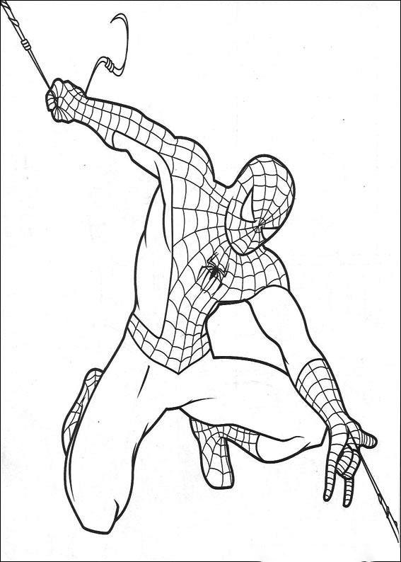 Tranh tô màu anh hùng người nhện