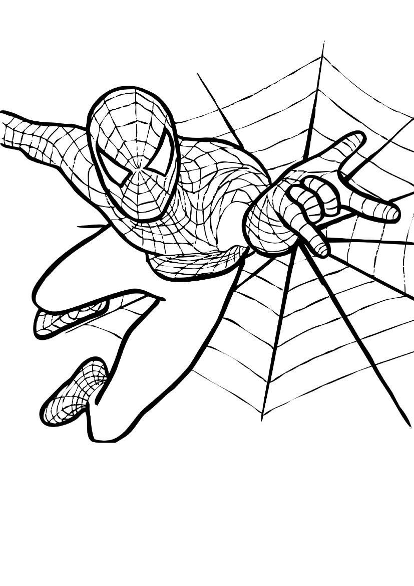 Tranh tô màu hình người nhện