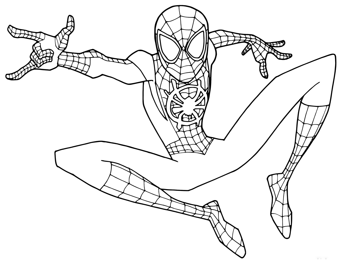 Tranh tô màu hoạt hình người nhện