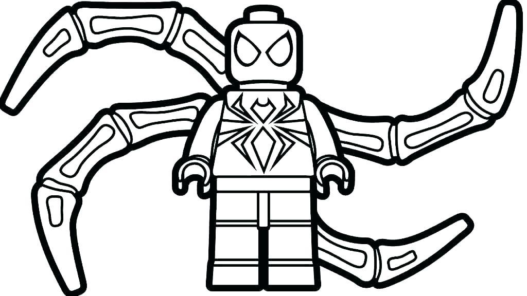 Tranh tô màu lego người nhện robot