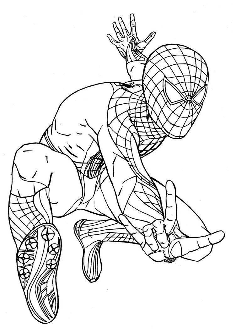 Tranh tô màu người nhện cực chất