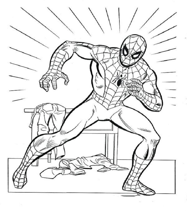 Tranh tô màu người nhện dành cho bé