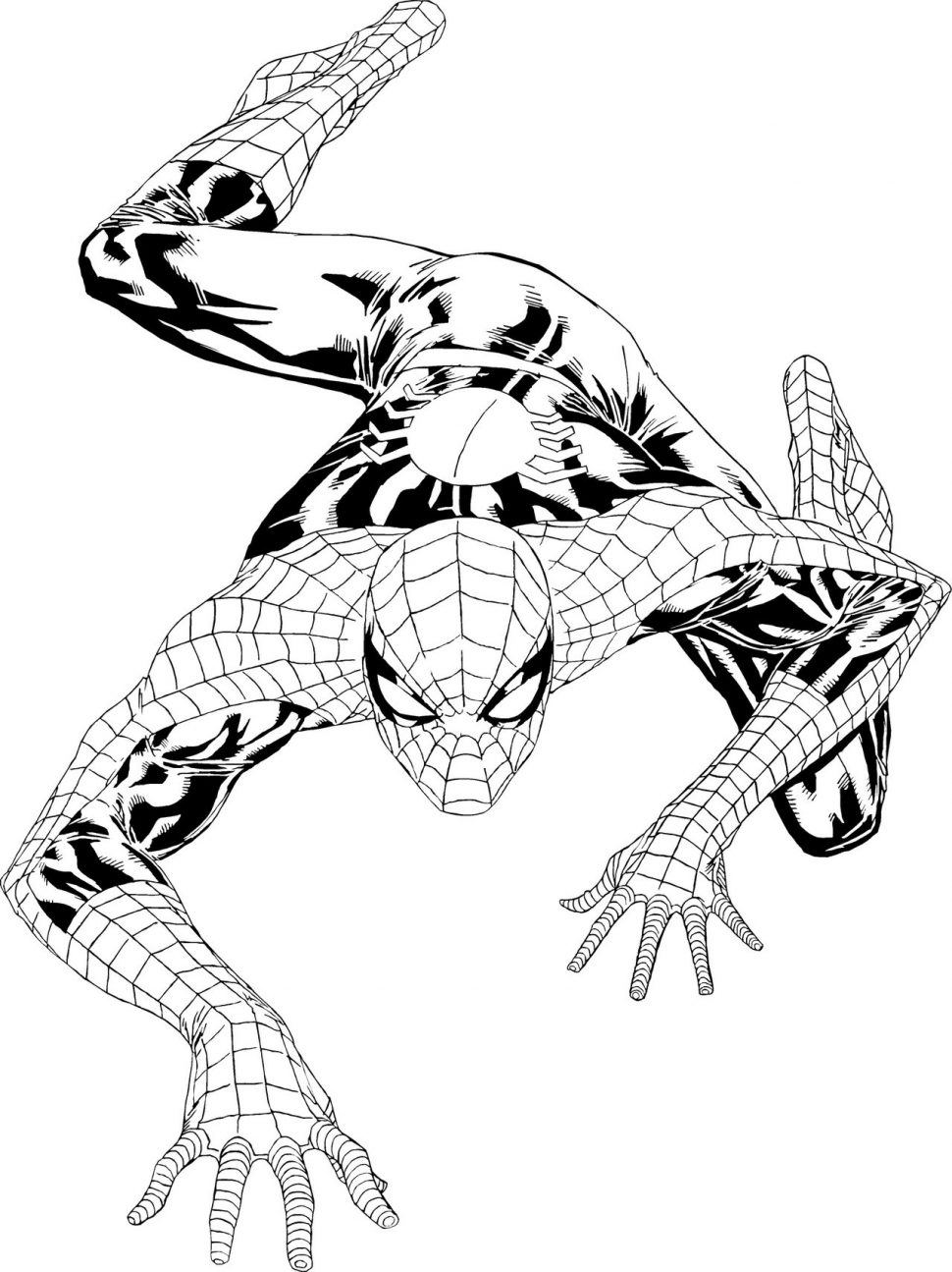 Tranh tô màu người nhện đơn giản