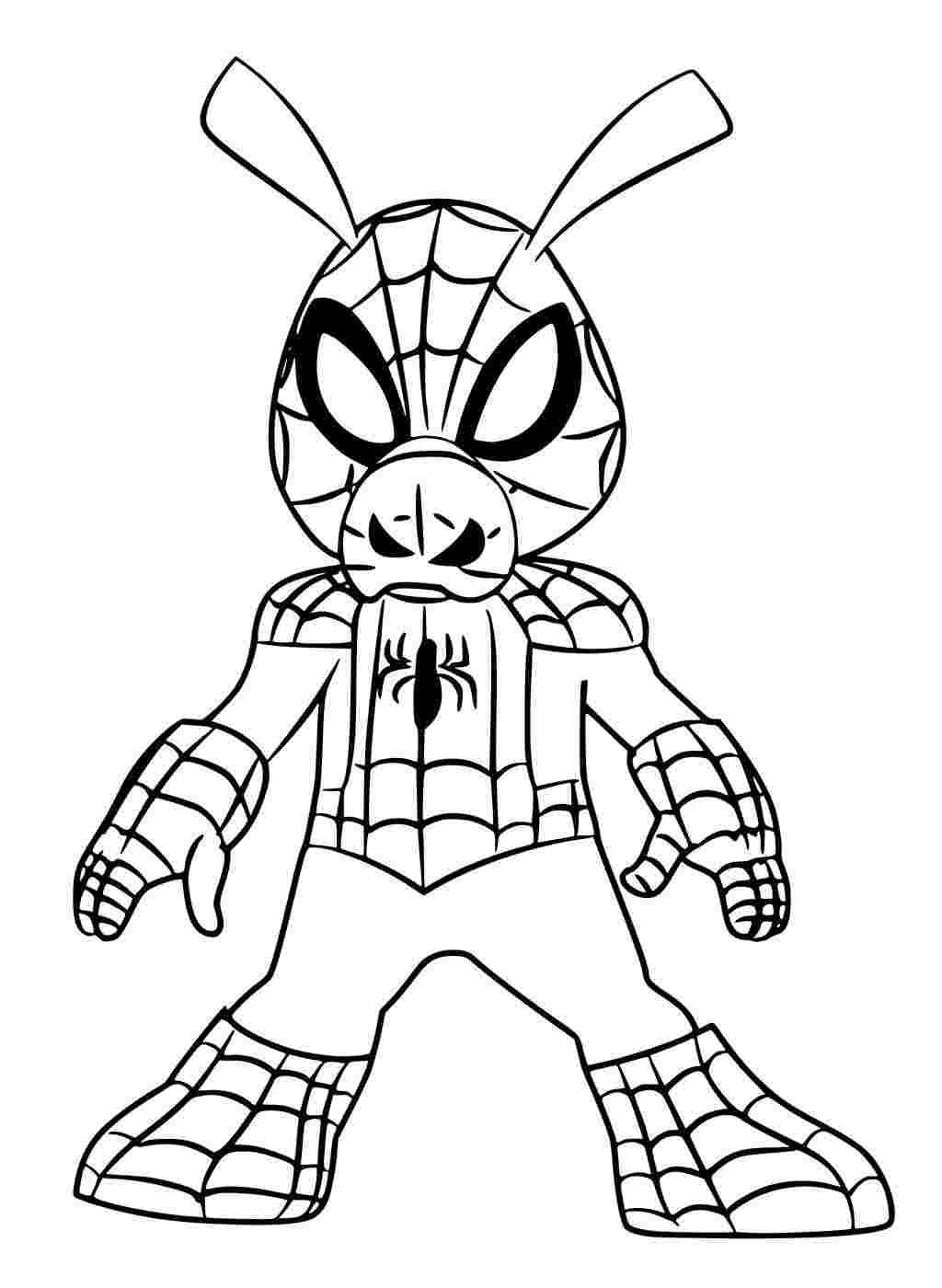 Tranh tô màu người nhện hài hước