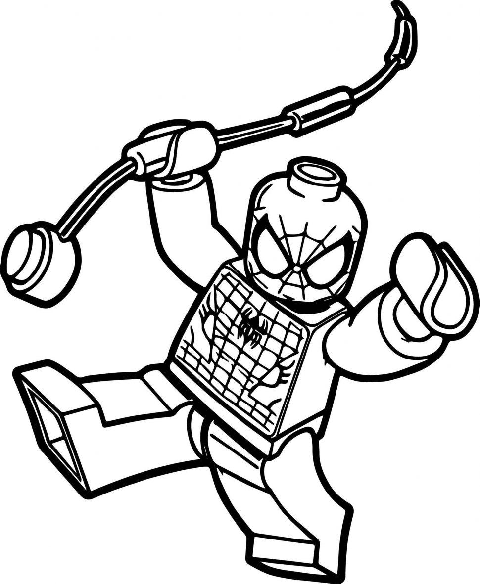Tranh tô màu người nhện lego