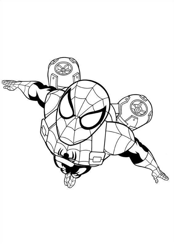Tranh tô màu người nhện vũ trụ