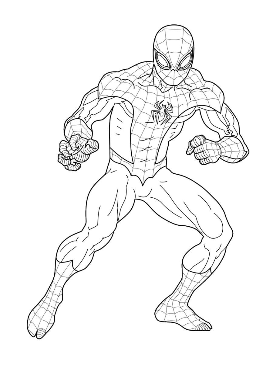 Tranh tô màu siêu nhân người nhện